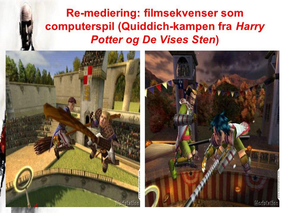 Re-mediering: filmsekvenser som computerspil (Quiddich-kampen fra Harry Potter og De Vises Sten)
