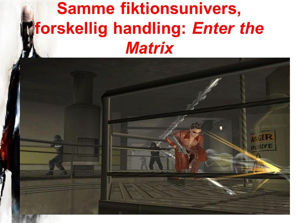 Samme fiktionsunivers, forskellig handling: Enter the Matrix