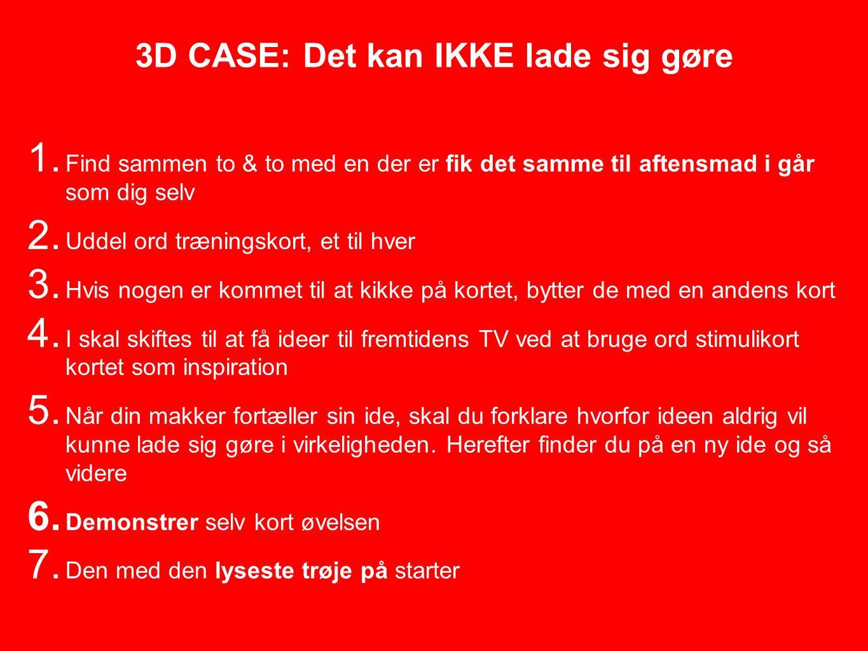 3D CASE: Det kan IKKE lade sig gøre 1.