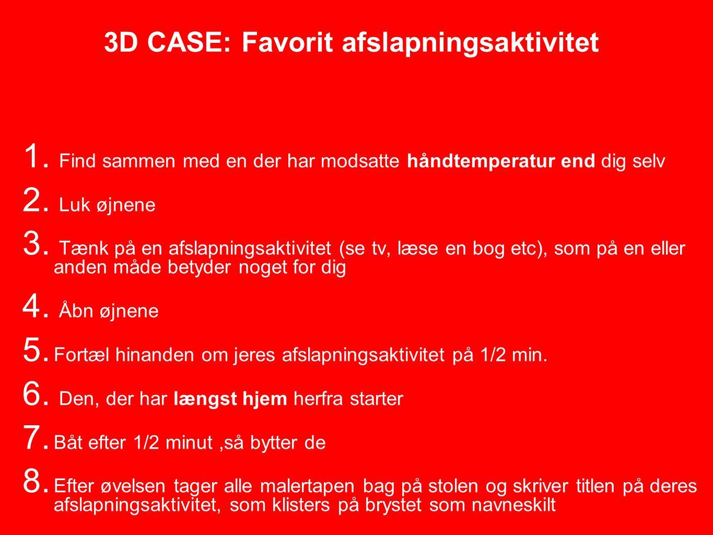 3D CASE: Favorit afslapningsaktivitet 1.