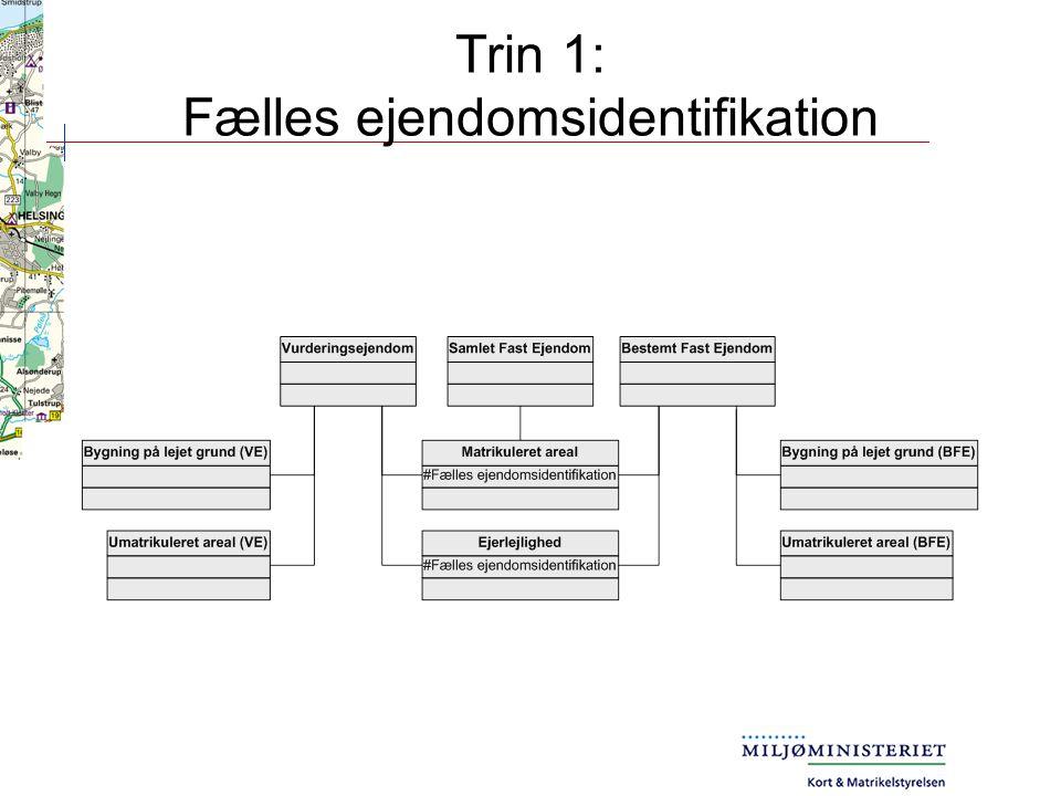Trin 1: Fælles ejendomsidentifikation