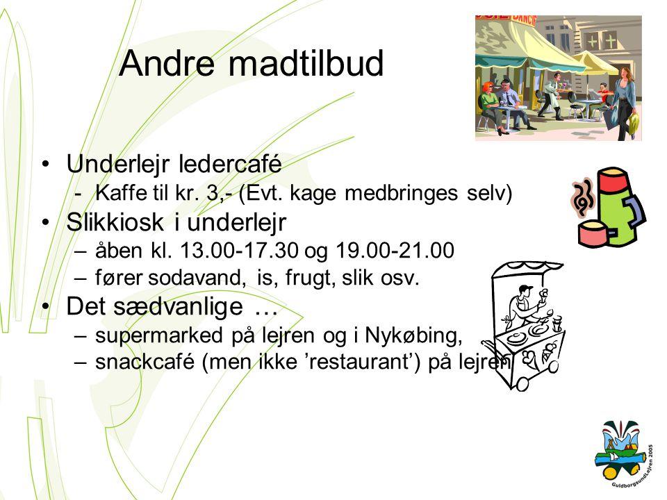 Andre madtilbud Underlejr ledercafé -Kaffe til kr.