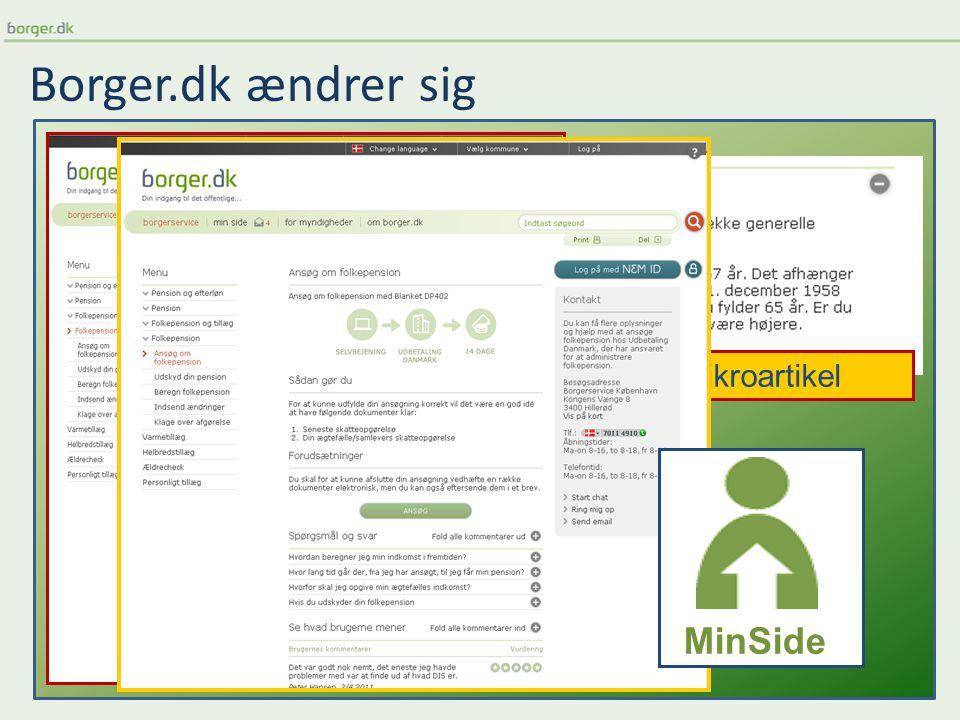 Borger.dk ændrer sig Mikroartikel MinSide