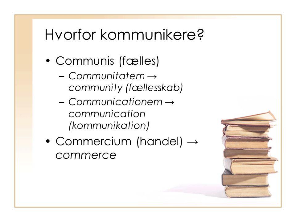 Hvorfor kommunikere.