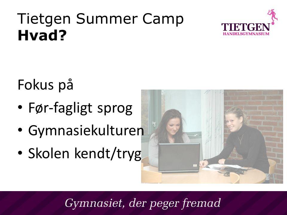 Tietgen Summer Camp Hvad.