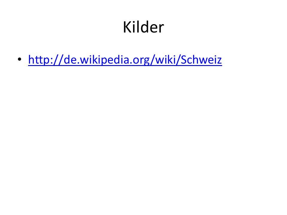 Kilder http://de.wikipedia.org/wiki/Schweiz