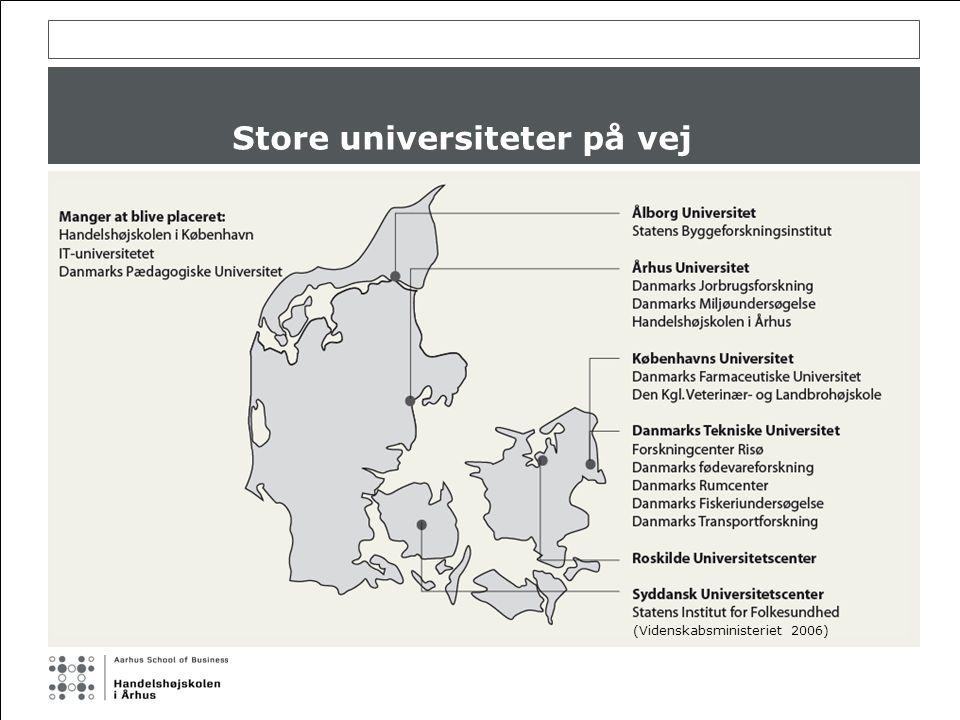 Store universiteter på vej (Videnskabsministeriet 2006)