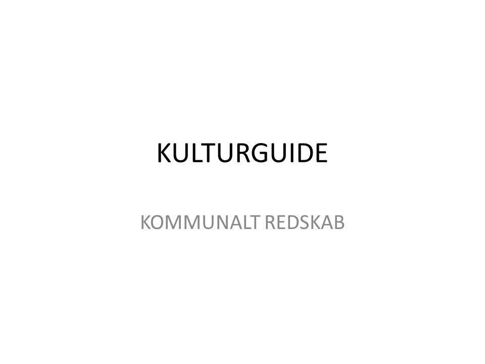 KULTURGUIDE KOMMUNALT REDSKAB
