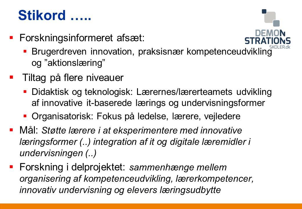 Anden information Stikord …..