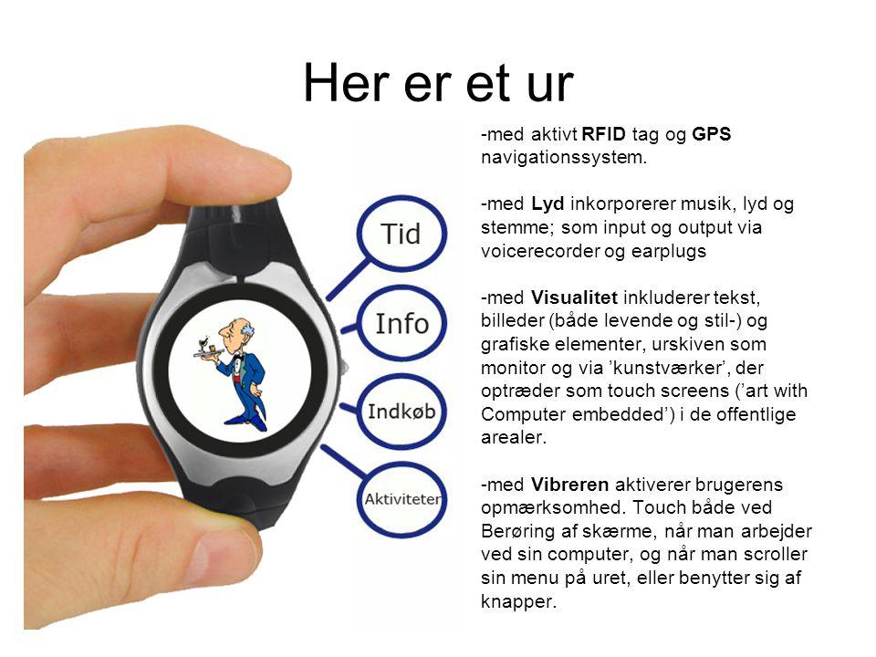 Her er et ur -med aktivt RFID tag og GPS navigationssystem.