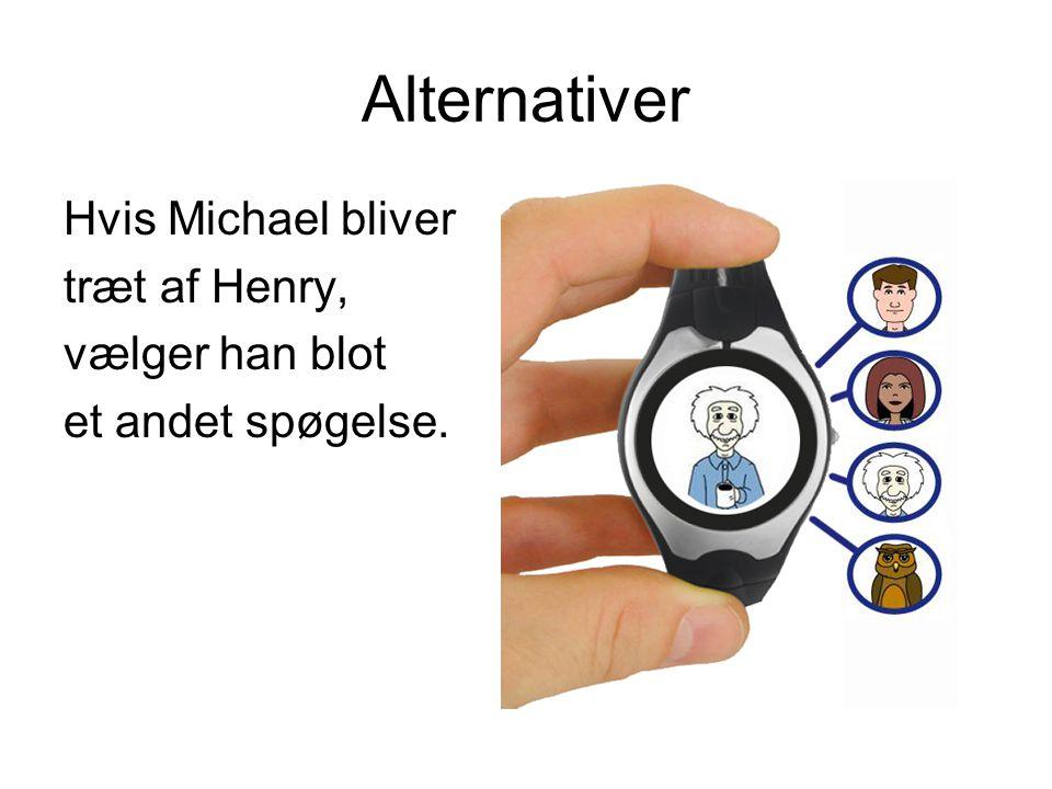 Alternativer Hvis Michael bliver træt af Henry, vælger han blot et andet spøgelse.