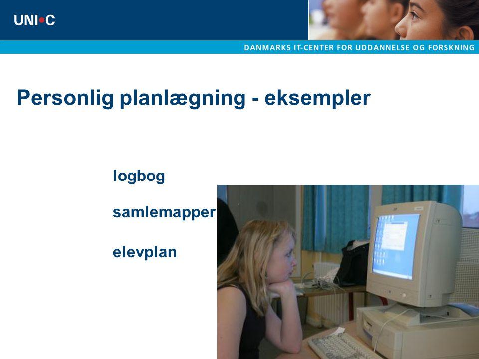 Personlig planlægning - eksempler logbog samlemapper elevplan