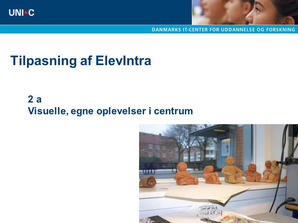Tilpasning af ElevIntra 2 a Visuelle, egne oplevelser i centrum