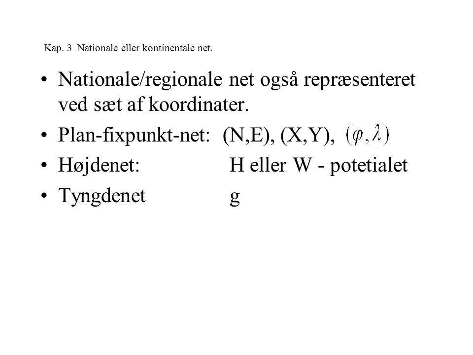 Kap. 3 Nationale eller kontinentale net.