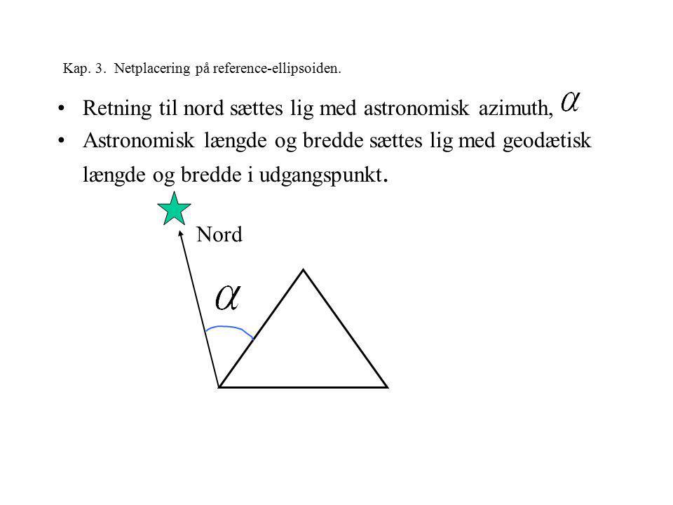 Kap. 3. Netplacering på reference-ellipsoiden.