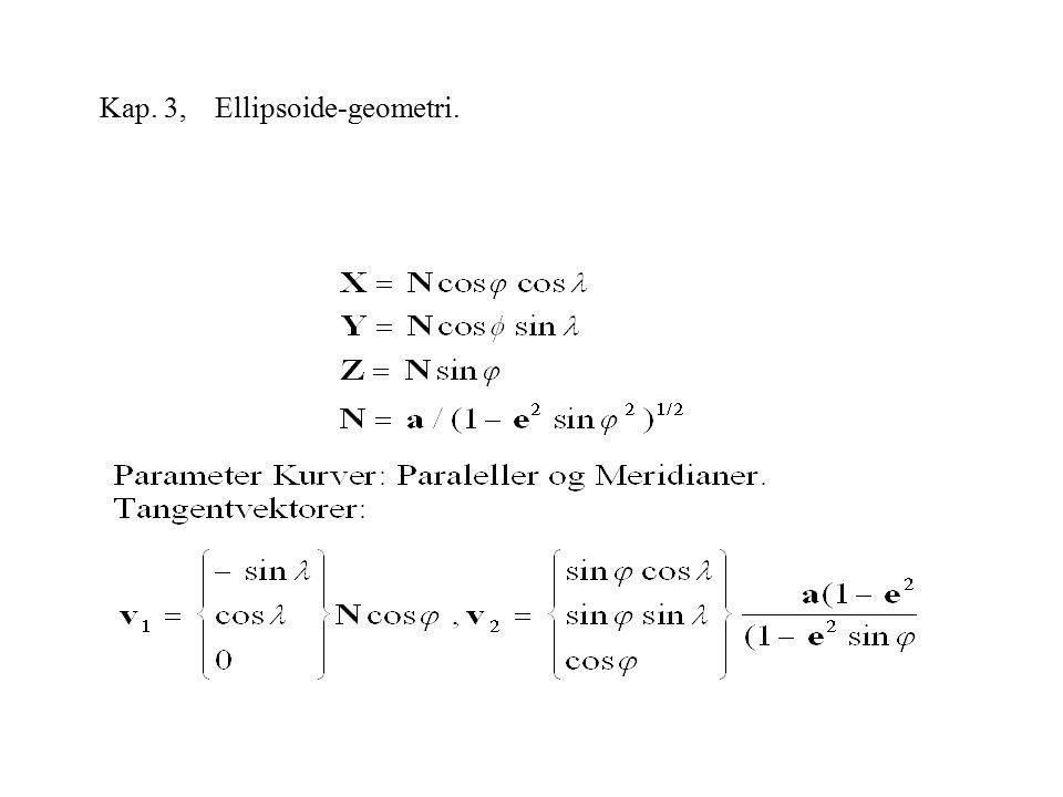 Kap. 3, Ellipsoide-geometri.