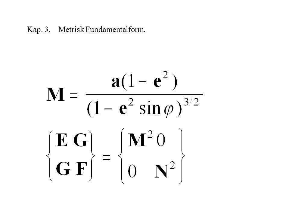 Kap. 3, Metrisk Fundamentalform.