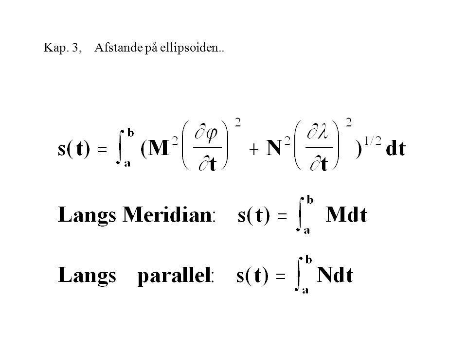 Kap. 3, Afstande på ellipsoiden..