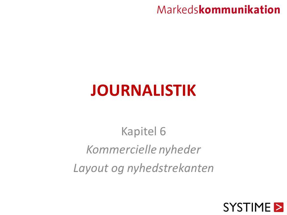 JOURNALISTIK Kapitel 6 Kommercielle nyheder Layout og nyhedstrekanten