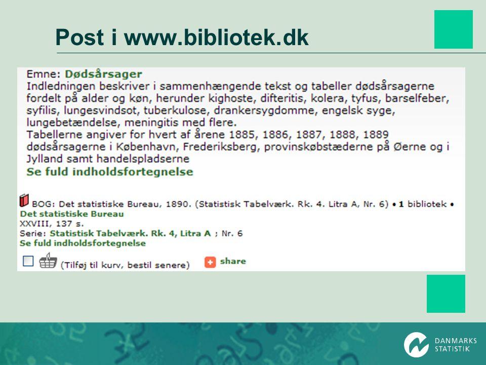 Post i www.bibliotek.dk