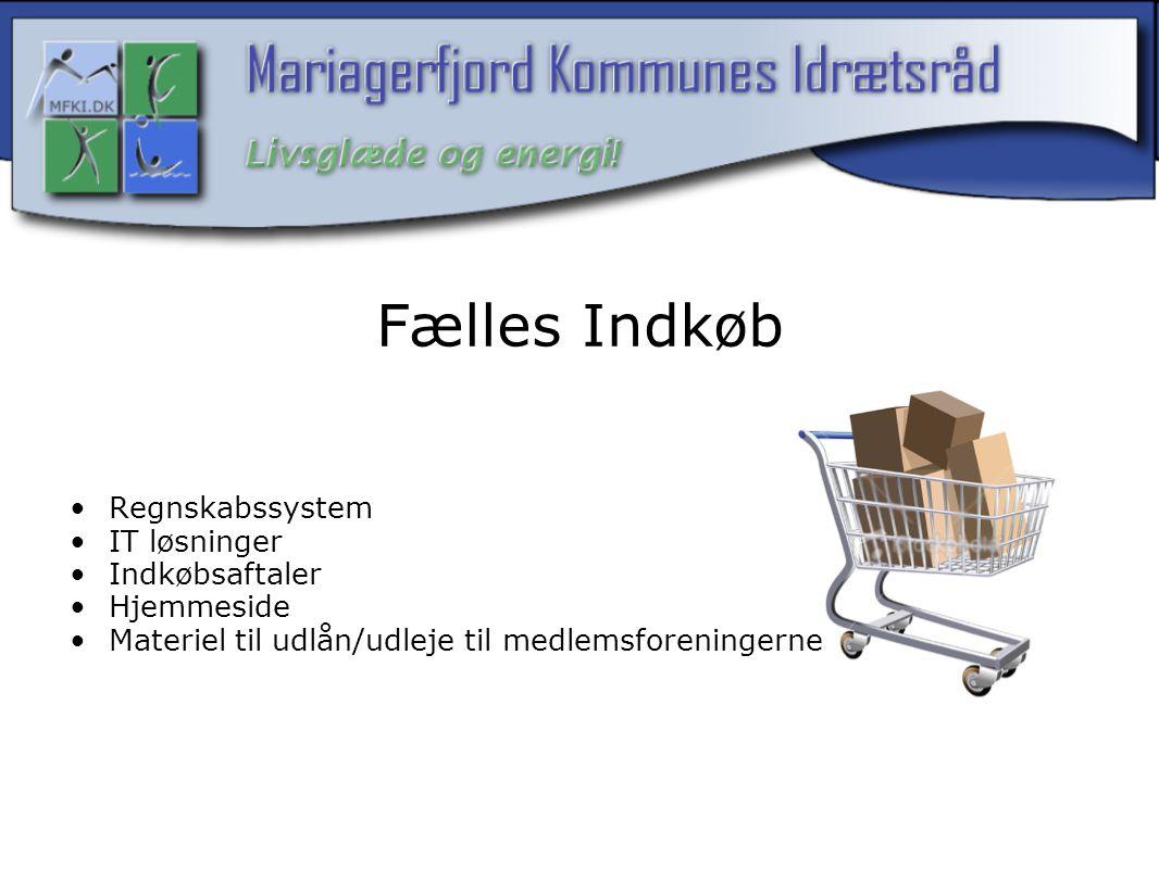 Fælles Indkøb Regnskabssystem IT løsninger Indkøbsaftaler Hjemmeside Materiel til udlån/udleje til medlemsforeningerne