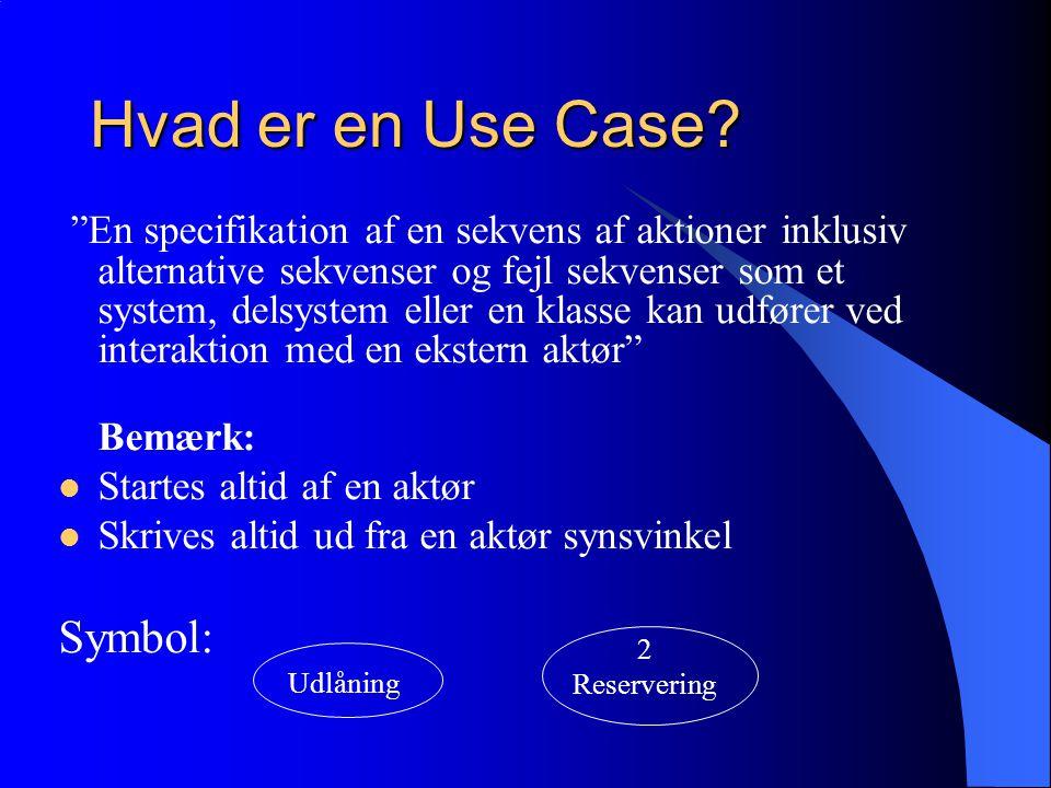 Hvad er en Use Case.