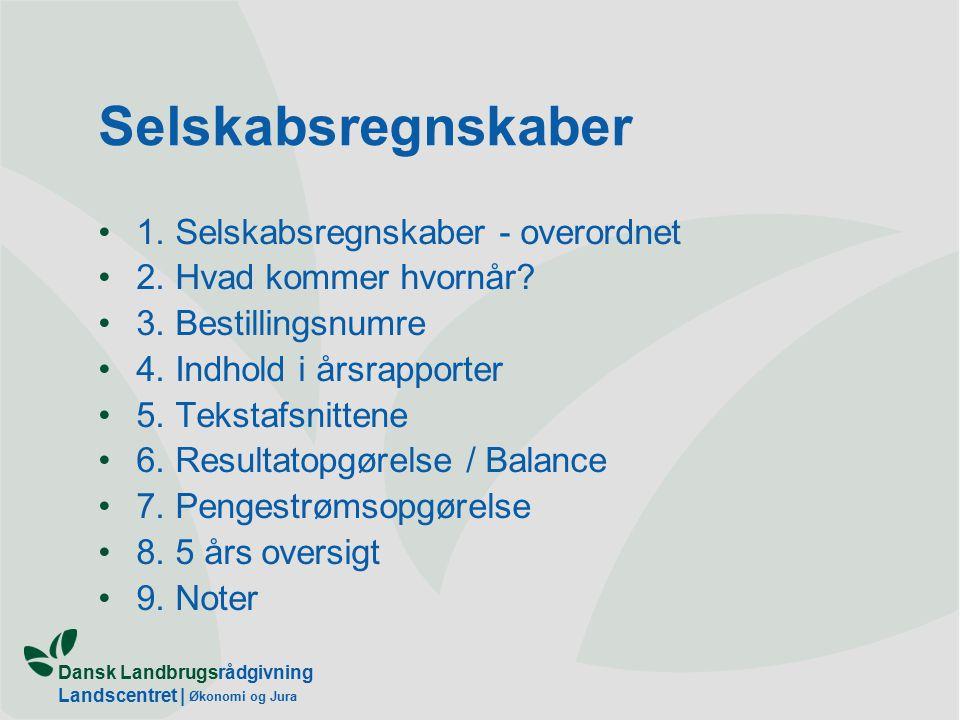 Dansk Landbrugsrådgivning Landscentret | Økonomi og Jura Selskabsregnskaber 1.