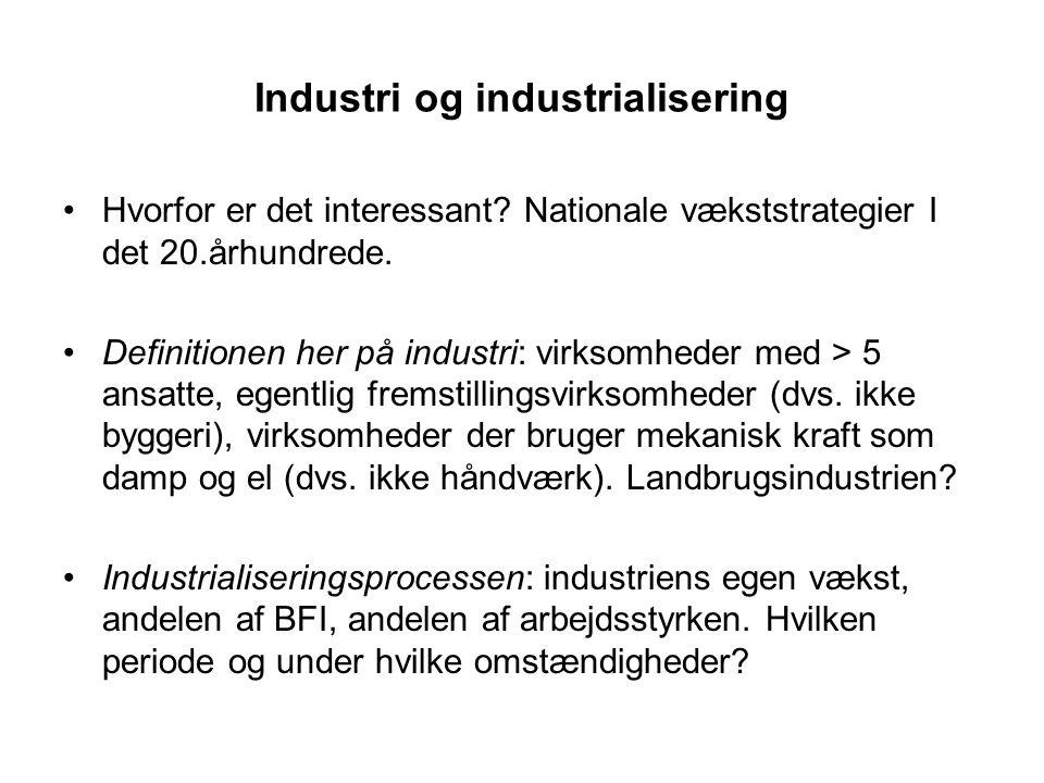 Industri og industrialisering Hvorfor er det interessant.