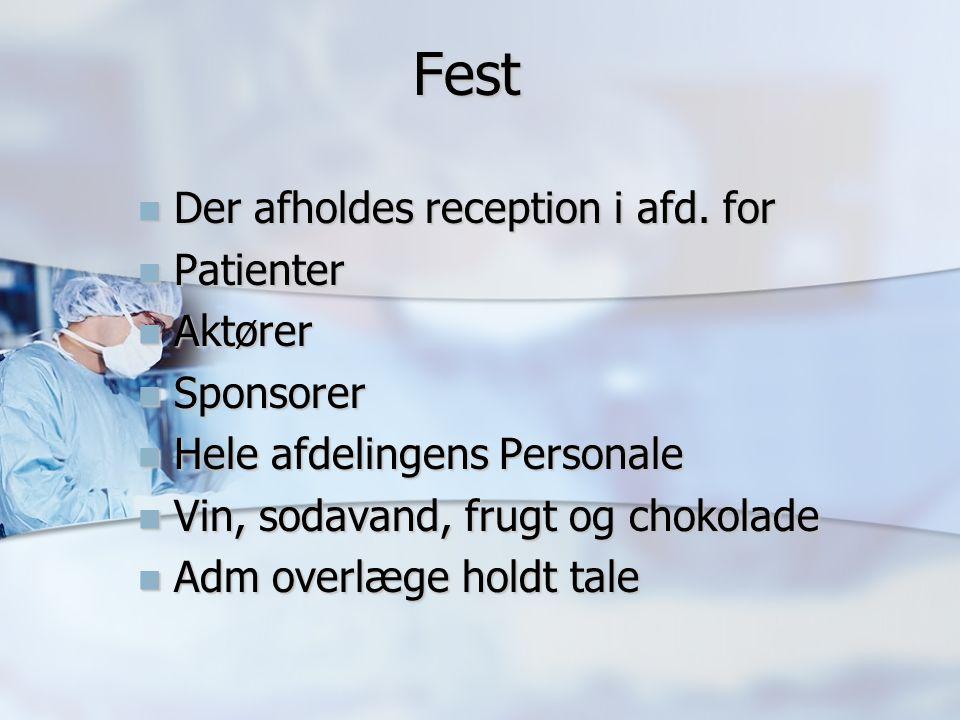Fest Fest Der afholdes reception i afd. for Der afholdes reception i afd.