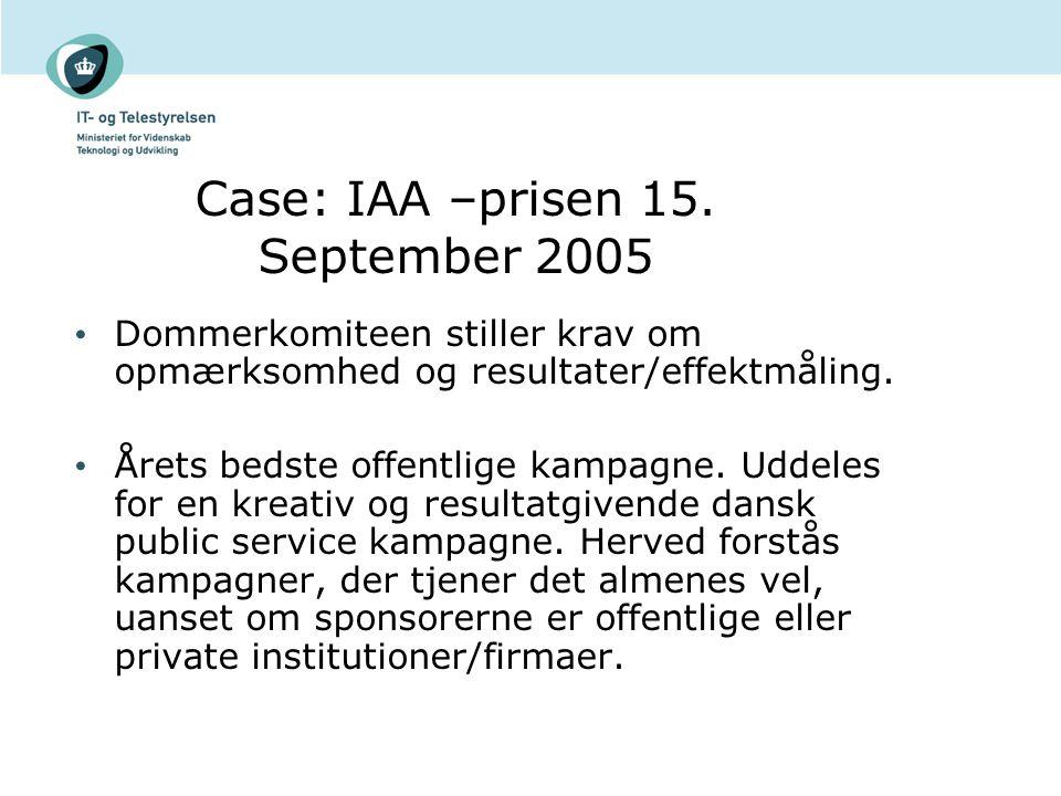 Case: IAA –prisen 15.