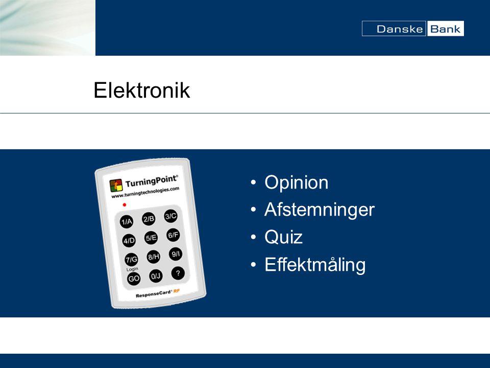 Elektronik Opinion Afstemninger Quiz Effektmåling