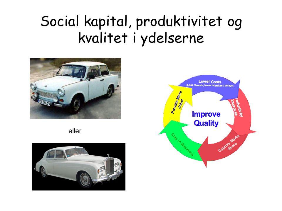 Social kapital, produktivitet og kvalitet i ydelserne eller