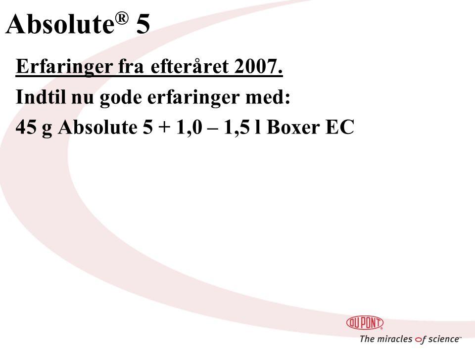 Absolute ® 5 Erfaringer fra efteråret 2007.