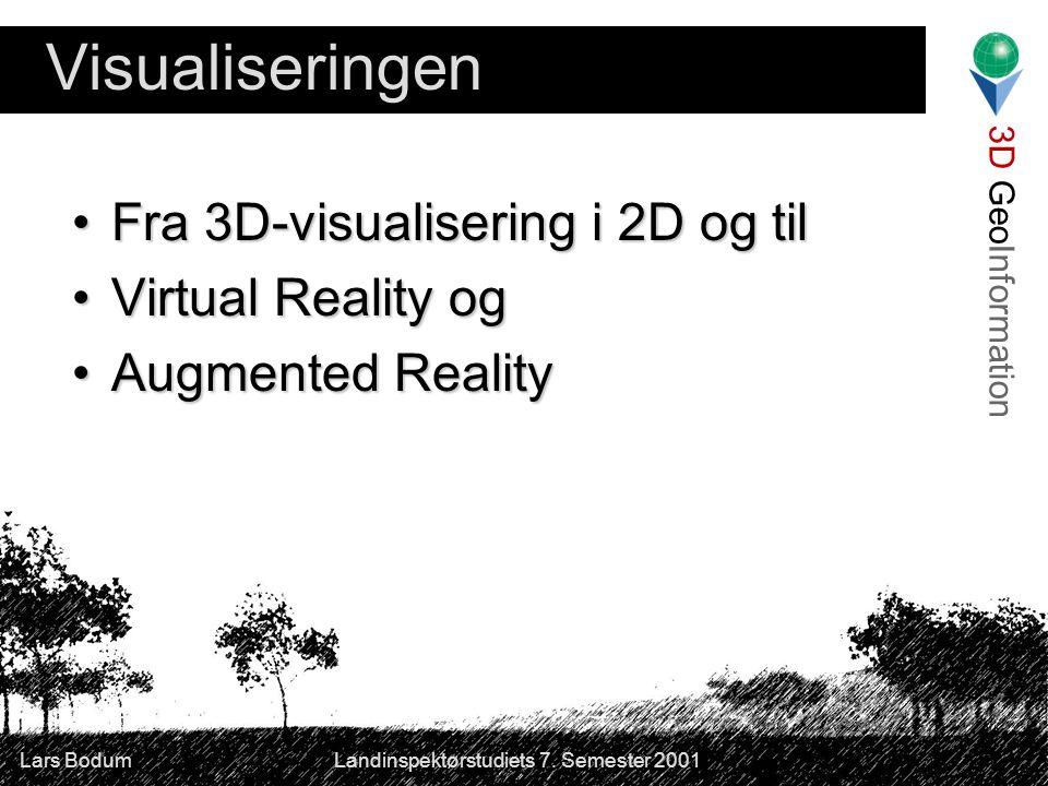3D GeoInformation Lars Bodum Landinspektørstudiets 7.