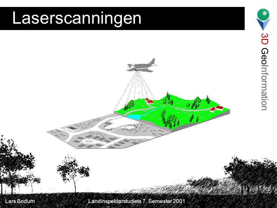 3D GeoInformation Lars Bodum Landinspektørstudiets 7. Semester 2001 Laserscanningen