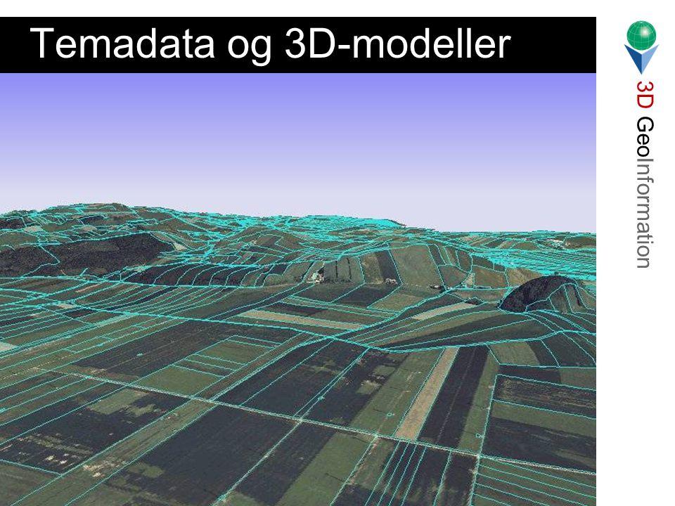 3D GeoInformation Lars Bodum Landinspektørstudiets 7. Semester 2001 Temadata og 3D-modeller
