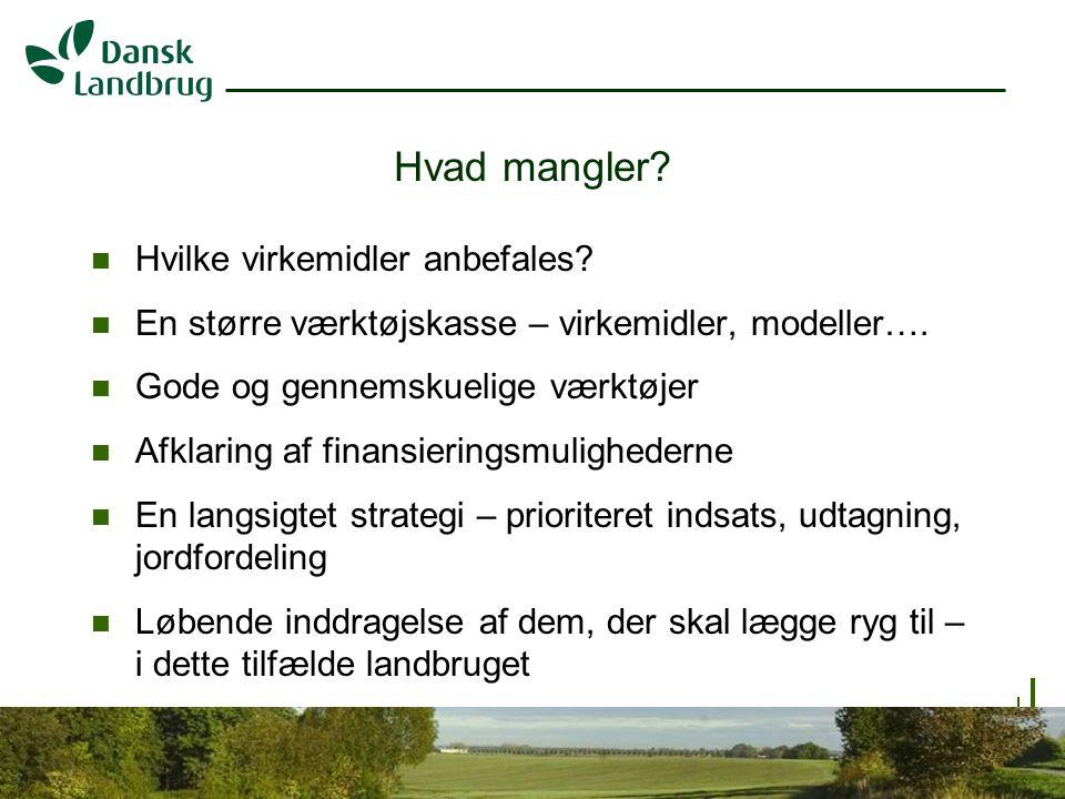 H:\EJO\Præsentationer\Vandramm.ppt 8 07.01.2008 Hvad mangler.