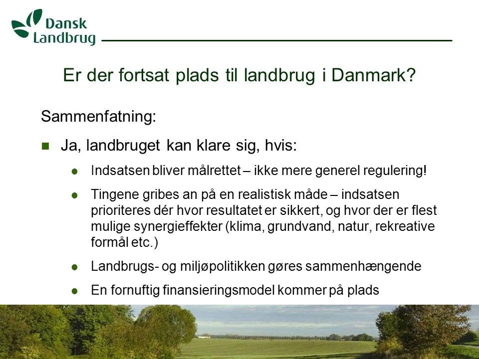 H:\EJO\Præsentationer\Vandramm.ppt 9 07.01.2008 Er der fortsat plads til landbrug i Danmark.