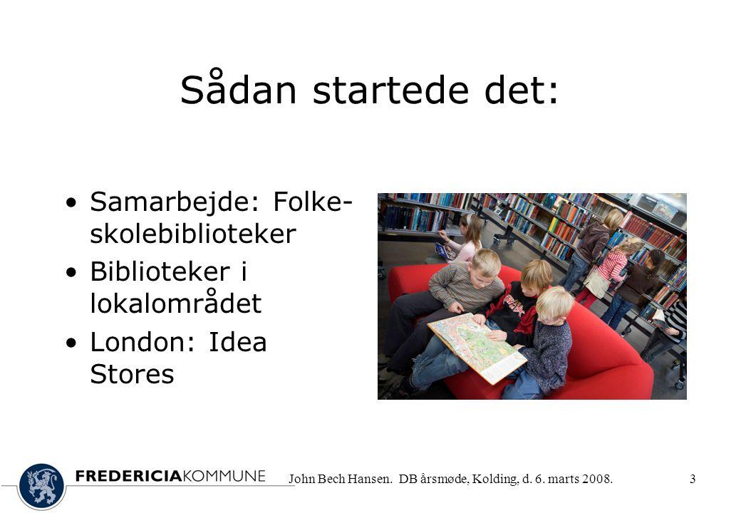 John Bech Hansen. DB årsmøde, Kolding, d. 6.