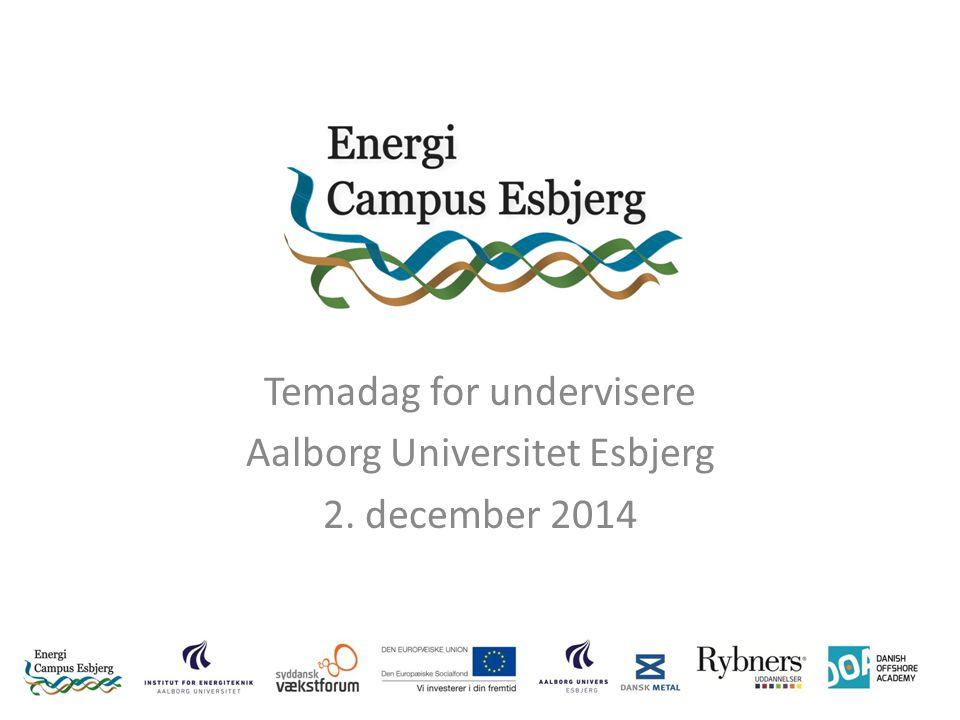 Temadag for undervisere Aalborg Universitet Esbjerg 2. december 2014
