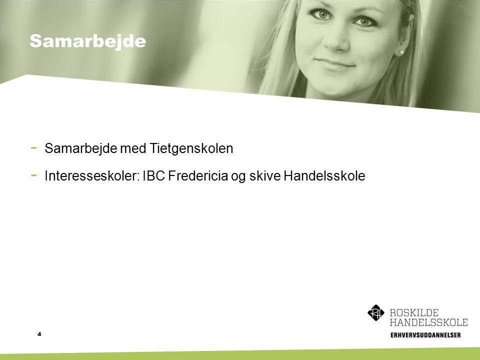 Samarbejde 4 - Samarbejde med Tietgenskolen - Interesseskoler: IBC Fredericia og skive Handelsskole