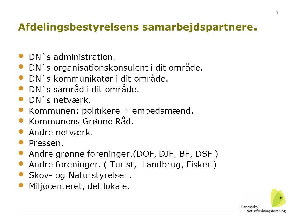 9 DN`s administration. DN`s organisationskonsulent i dit område.