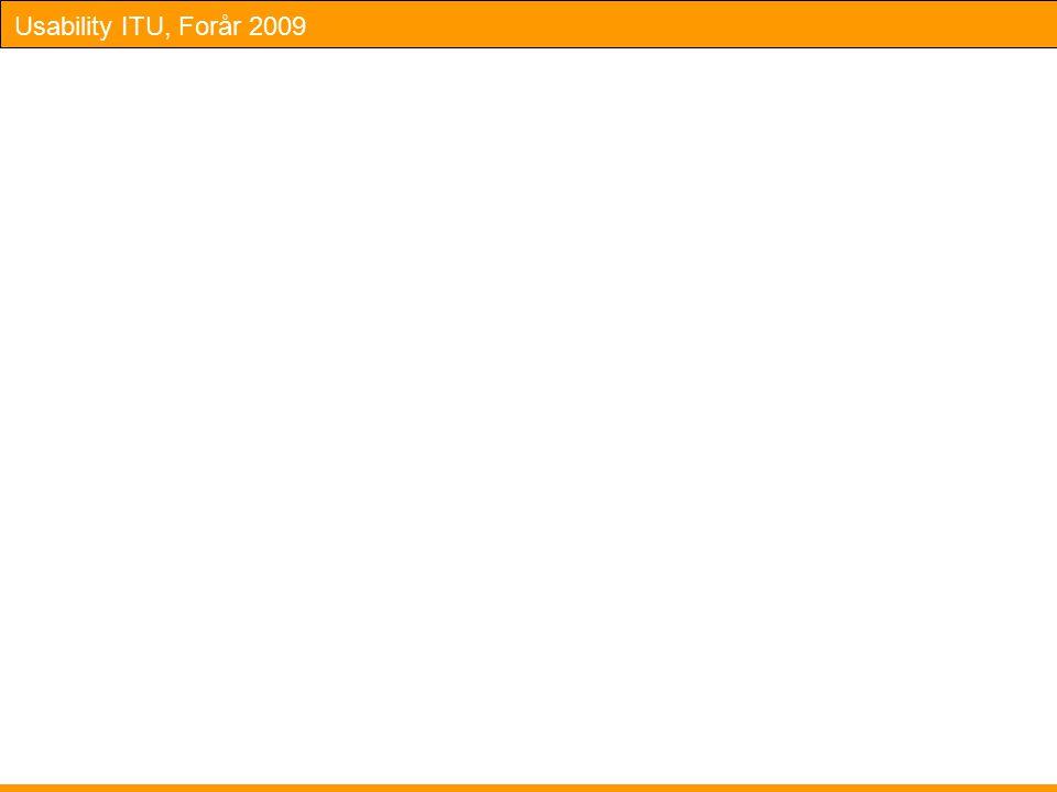 Usability ITU, Forår 2009
