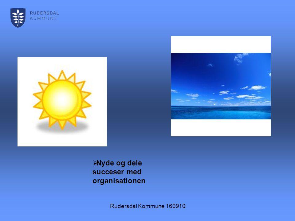 Rudersdal Kommune 160910  Nyde og dele succeser med organisationen