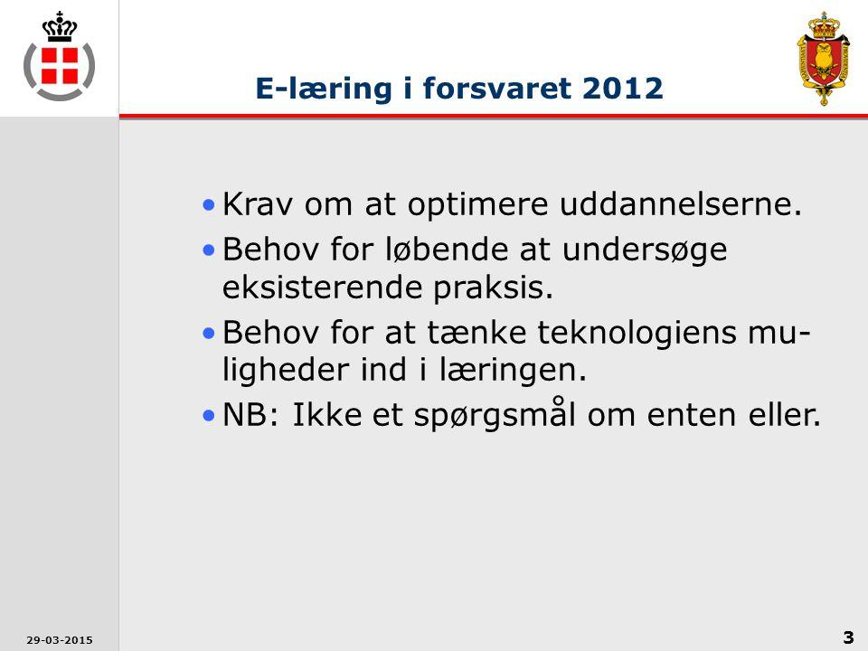 3 29-03-2015 Krav om at optimere uddannelserne.