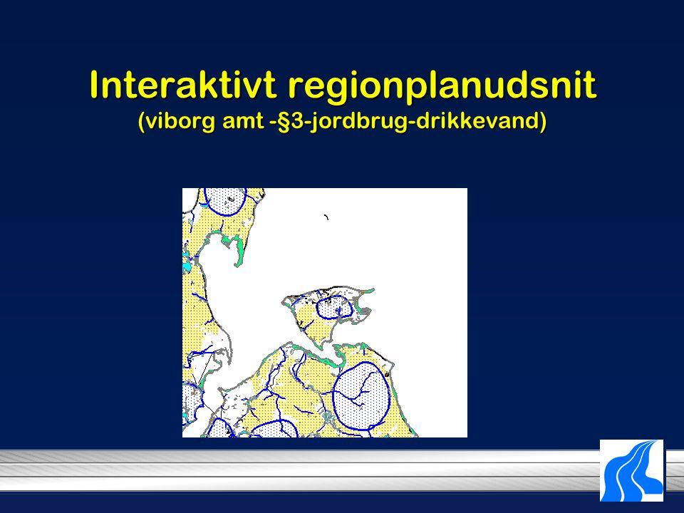 Interaktivt regionplanudsnit (viborg amt -§3-jordbrug-drikkevand)