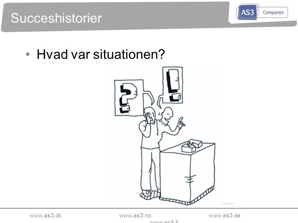 www.as3.dkwww.as3.nowww.as3.se www.as3.fi Succeshistorier Hvad var situationen