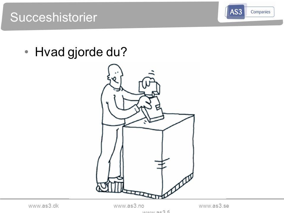 www.as3.dkwww.as3.nowww.as3.se www.as3.fi Succeshistorier Hvad gjorde du