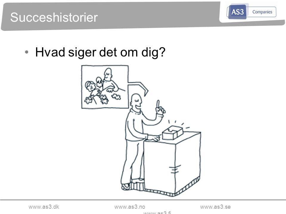 www.as3.dkwww.as3.nowww.as3.se www.as3.fi Succeshistorier Hvad siger det om dig