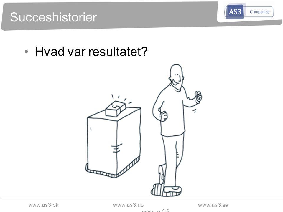www.as3.dkwww.as3.nowww.as3.se www.as3.fi Succeshistorier Hvad var resultatet